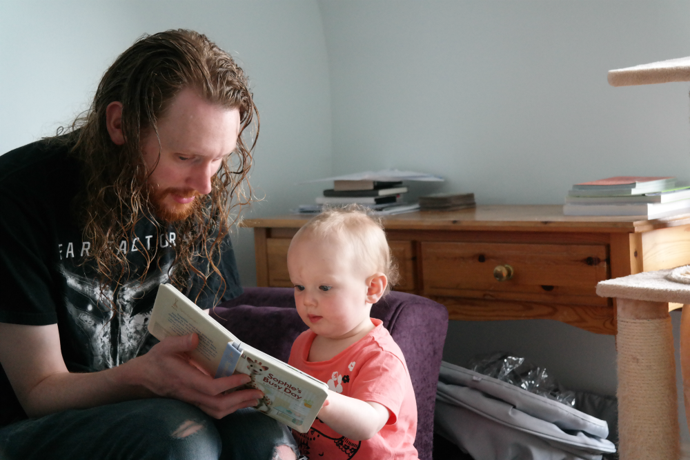 This Little Big Life: Daddy and Matilda reading