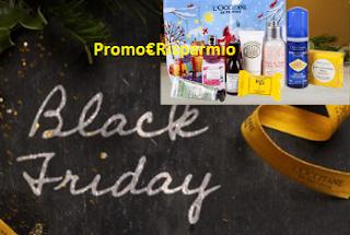Logo L'Occitane: Black Friday con Trousse omaggio e sconti fino al 50%