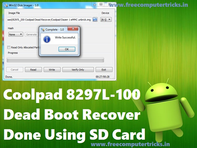 How To Recover Coolpad 8297L-100 Dead Boot Using SD Card - Free