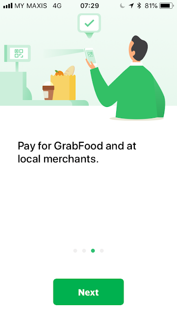 GrabPay welcome screen #3
