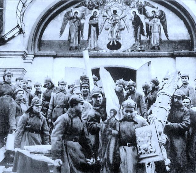 Разрушение русских храмов. Симонов монастырь