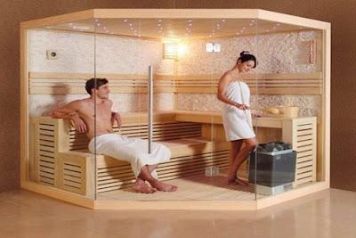 Phòng xông hơi dành cho nhà tắm rộng