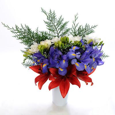 Corleone Royal Lilies, Versailles Freesia, Telstar Iris and Port Orford Cedar