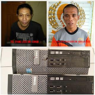 Pelaku Pencurian di Kantor PT Conoco Philip Diciduk Polisi