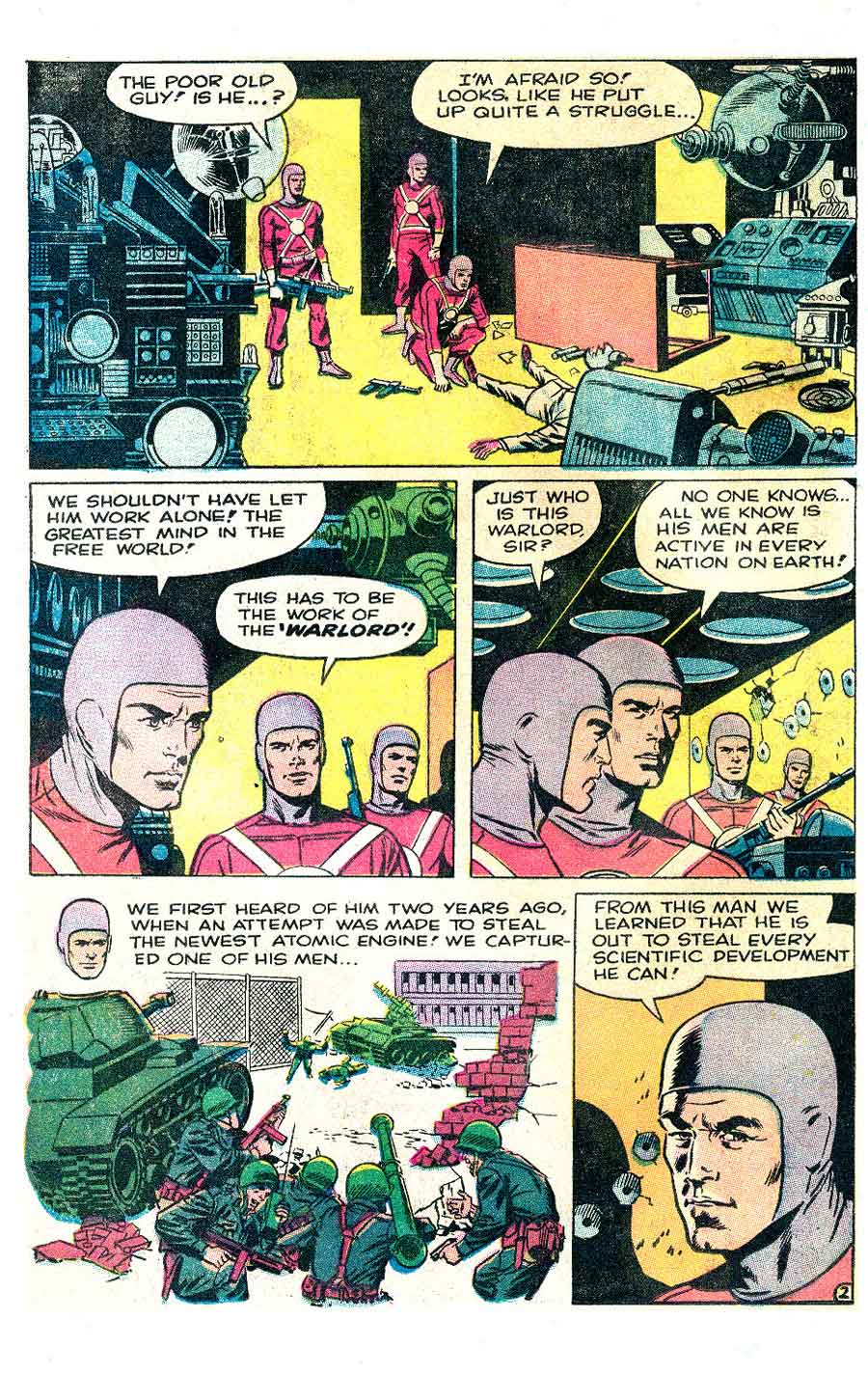 Thunder Agents v1 #17 tower silver age 1960s comic book page art by Wally Wood, Steve Ditko