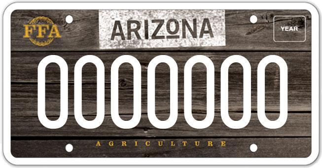 Arizona / New Plate Watch New FFA, Sun Devil, Masonic, Lumberjack - new farmers of america