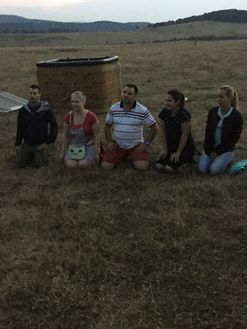 Hot-air ballooning baptism; Toparcea, Transylvania, Romania