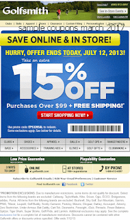 Golfsmith coupons march