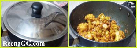 सादा गोभी आलू की सब्जी   How to make Aloo Gobi Msala in Hindi