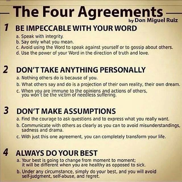 Points Of Attention The Four Agreements Summary Photo Don