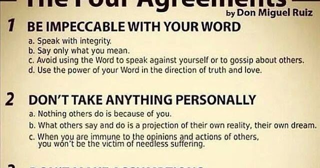 Points Of Attention The Four Agreements Summary Don Miguel Ruiz