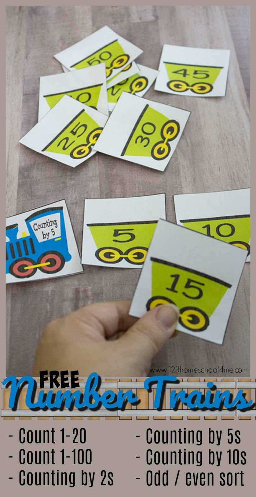 Free Number Trains - Count to 100