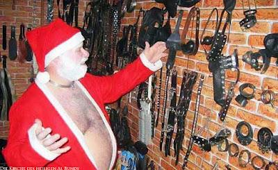 SM Weihnachtsmann und seine Hobbys lustiges Foto Weihnachten