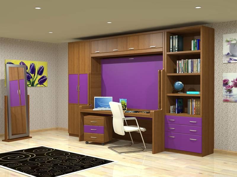 Camas abatibles con escritorio for Dormitorios juveniles camas abatibles con escritorio