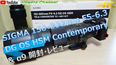 SIGMA 150-600mm F5-6.3 DG OS HSM Contemporary & α9 開封・レビュー(4K)