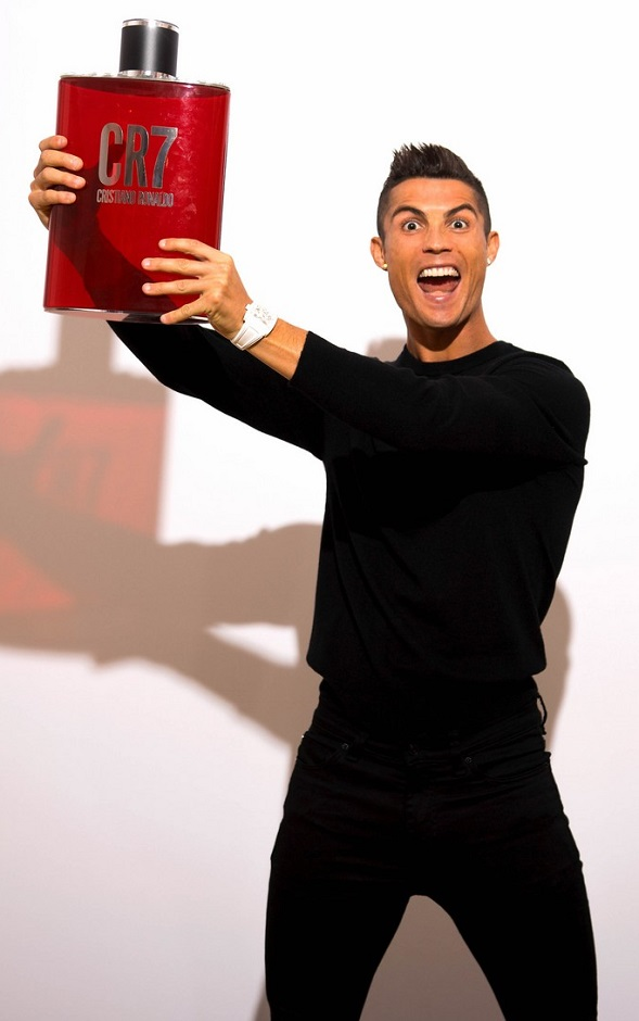 cristiano ronaldo at his cr7 fragrance launch event. Black Bedroom Furniture Sets. Home Design Ideas