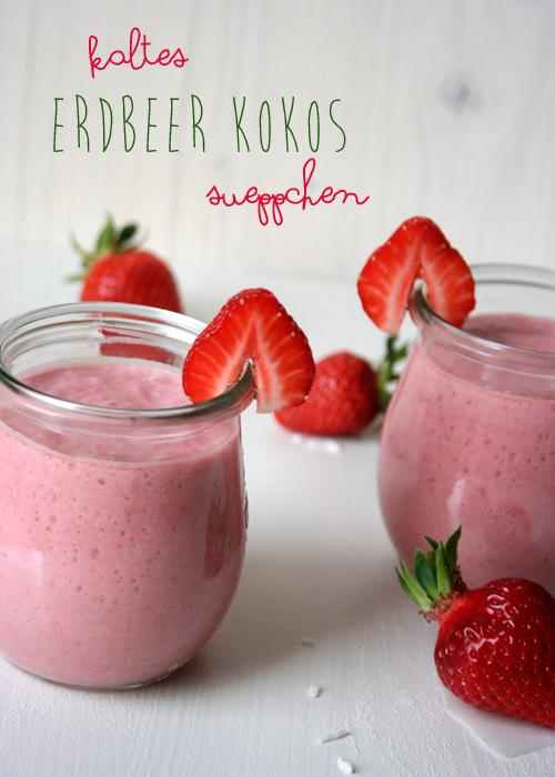 Kochkarussell: Kaltes Erdbeer-Kokos-Süppchen