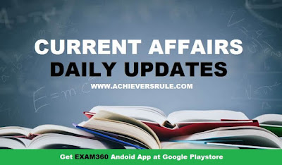 Current Affairs Updates - 3rd November 2017