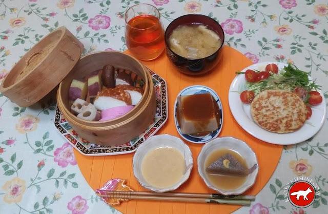 Repas typique de Kyoto au Japon