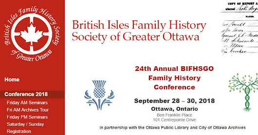 Meet Me in Ottawa - BIFHSGO Conference Registration Now Open