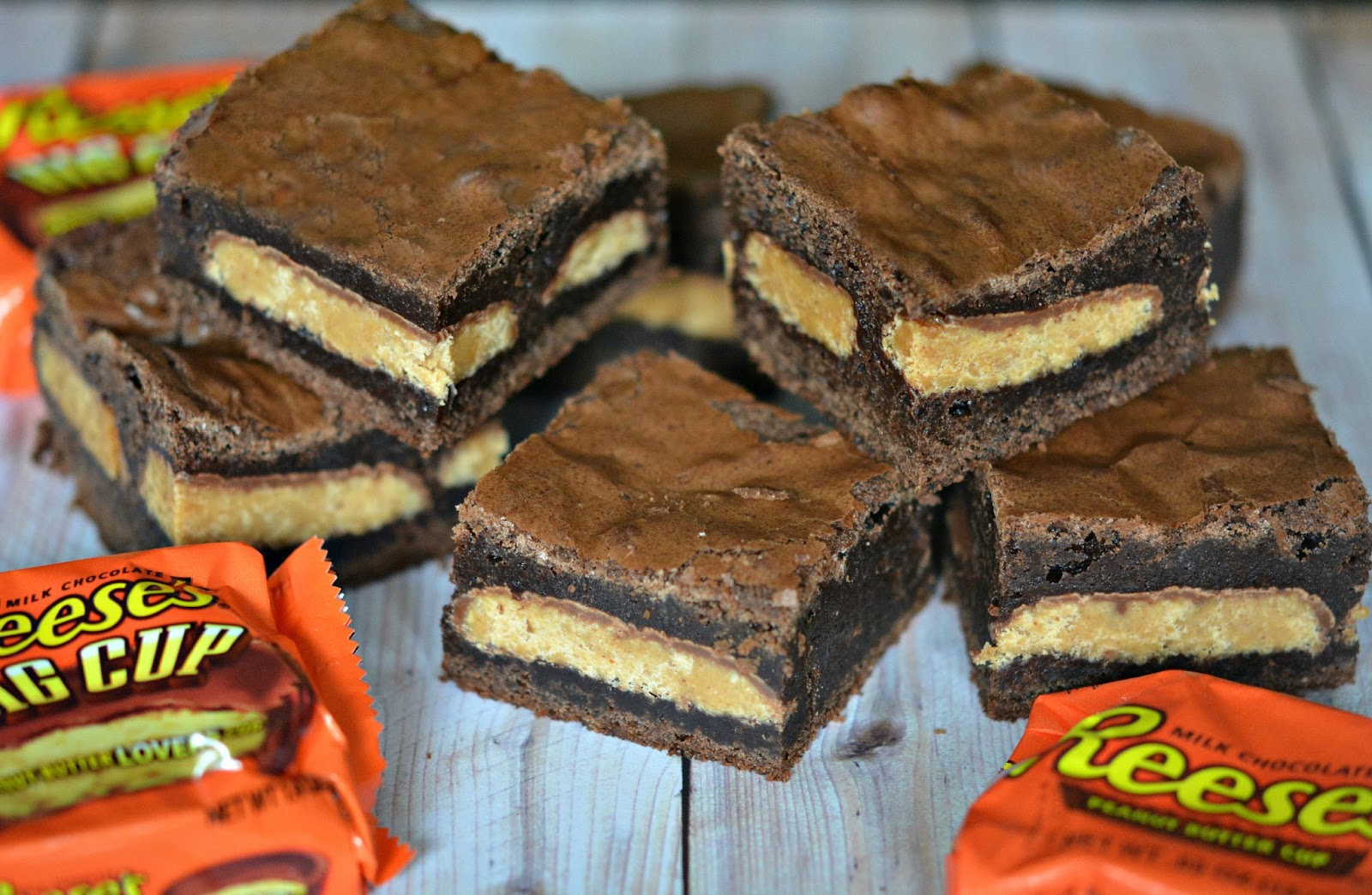 BROWNIES STUFFED WITH REESE'S PEANUT BUTTER CUPS! - Hugs ...