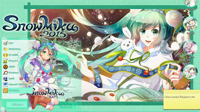 Yuki Miku 2015 Windows 7 Theme