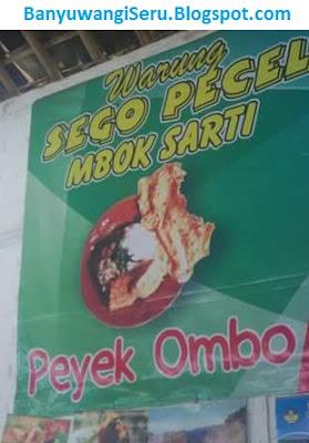 Kuiner murah warung Mbok Sarti yang Khas dengan peyek ombonya...