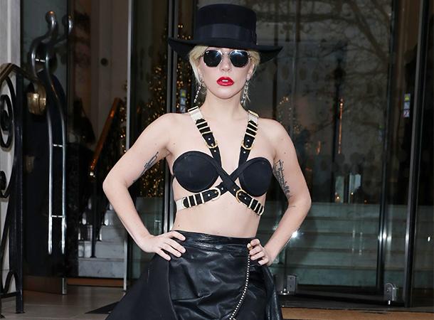 Lady Gaga Leaves Langham Hotel in London (December 6)