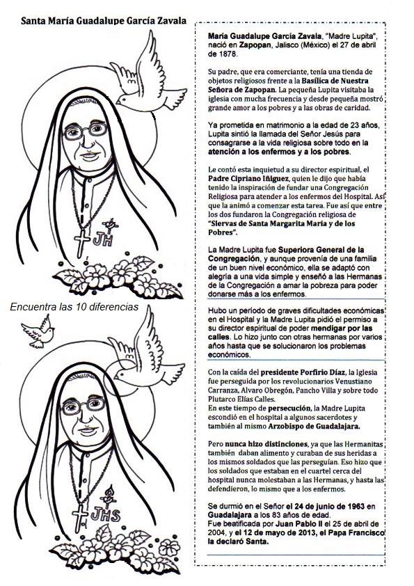 """Resultado de imagen para Santa María Guadalupe García Zavala """"Madre Lupita"""""""