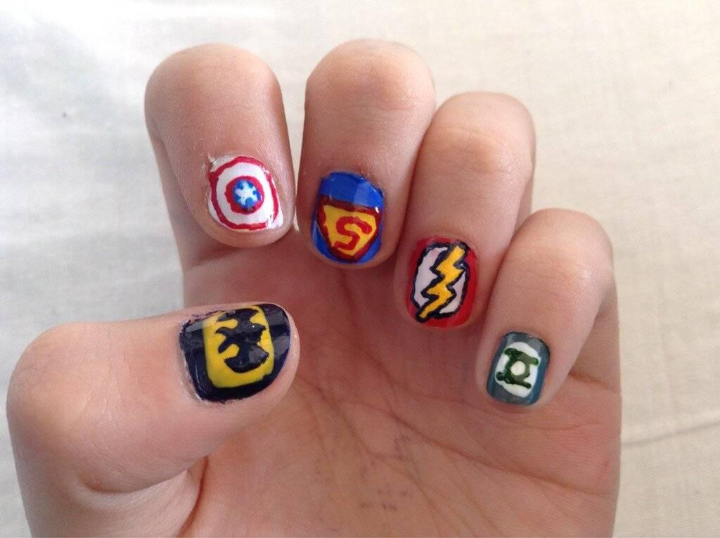 Uñas Superhéroes