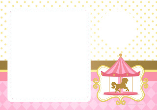 Carousel in Pink: Free Printable Invitations.