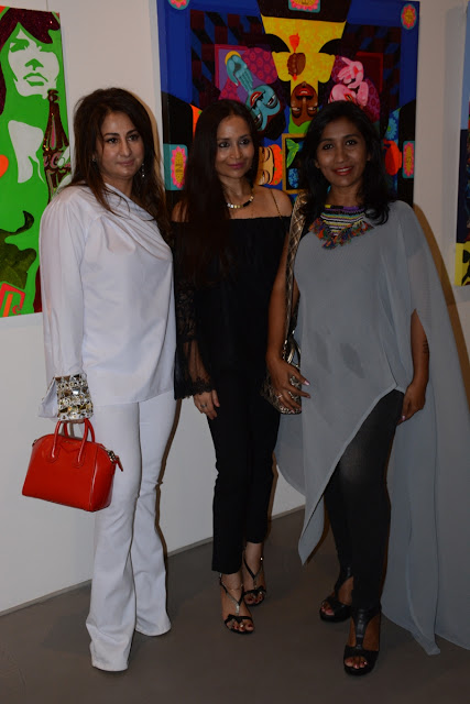 payal kapoor hosted the opening of art exhibition harvest