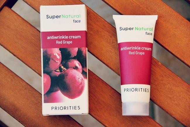 Sephora SuperNatural red grape anti-wrinkle face cream