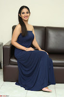 Radhika Mehrotra in sleevless Strap less Blue Gown At Prema Entha Madhuram Priyuraalu Antha Katinam Movie Interview ~  Exclusive 010.JPG