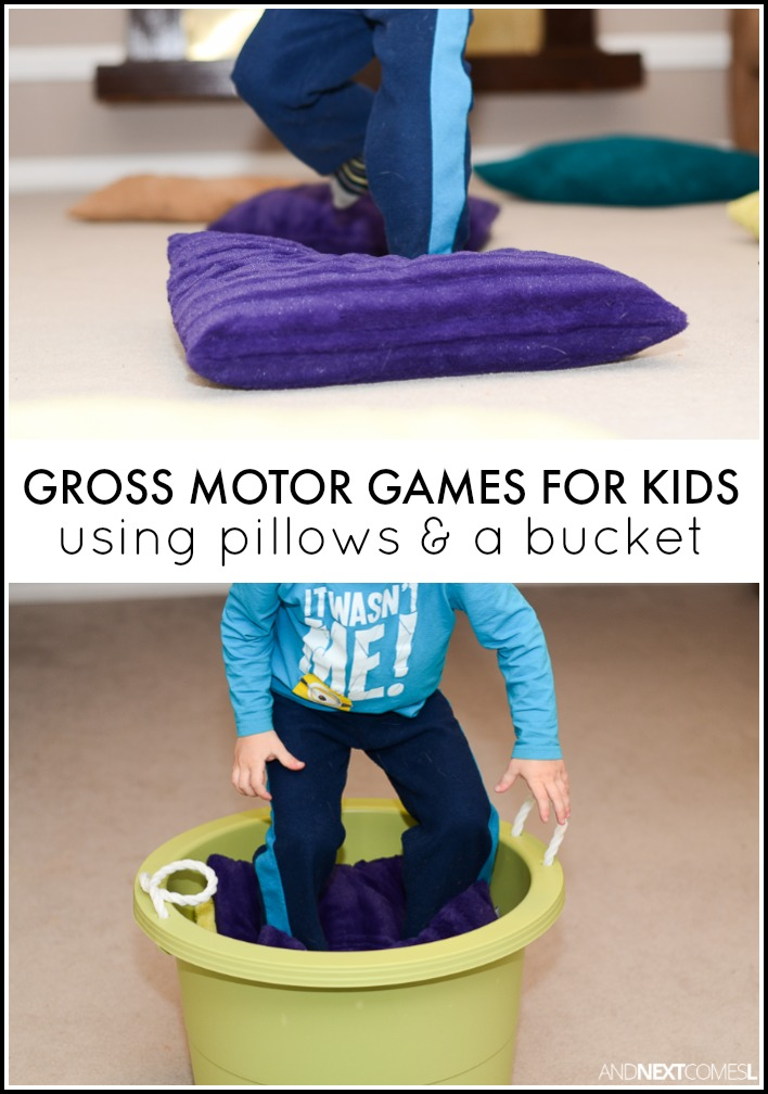 8 Gross Motor Activities For Kids Using Pillows A Bucket
