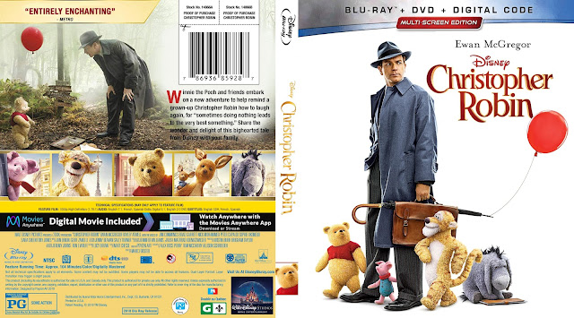 Christopher Robin Bluray Cover
