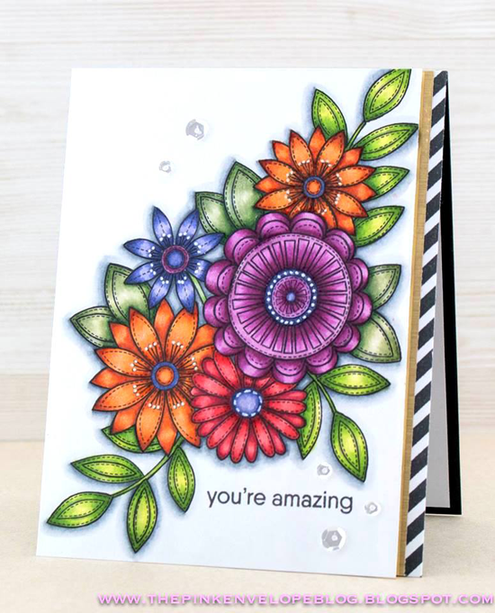 Funky Flowers stamp set - Cynde Whitlow #mftstamps