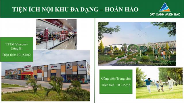 Hình ảnh tổng quan tiện ích nội khu TTTM Công Viên thuộc dự án Uông Bí New City - Yên Thanh Quảng Ninh