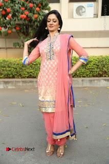 Actress Vimala Raman Stills in Beautiful Pink Salwar Kameez at (ONV) Om Namo Venkatesaya Press Meet  0262.JPG