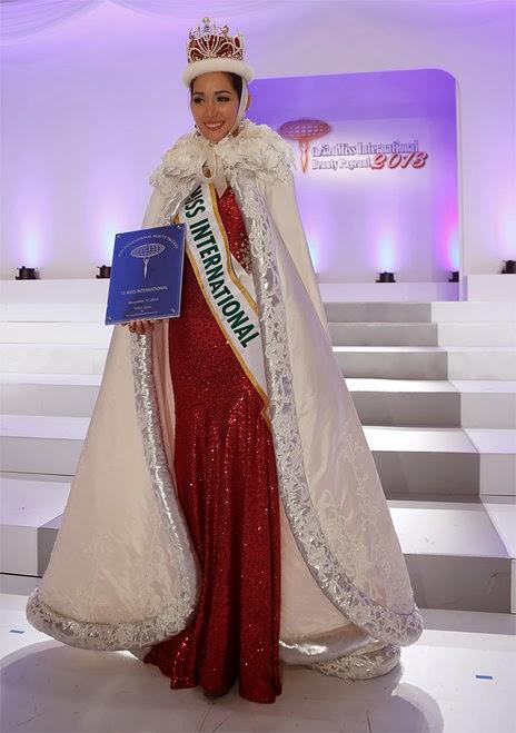 SASHES AND TIARASMiss International 2013 is Miss