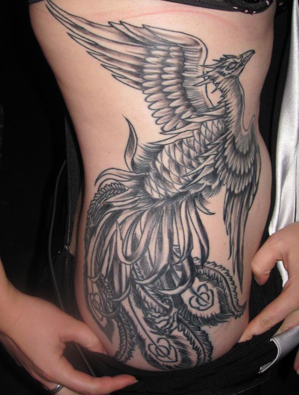 Tutano mole 50 incr veis tatuagens de f nix for Phoenix neck tattoo