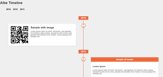 Albe Timeline, jQuery Timelines Plugin With JSON Data