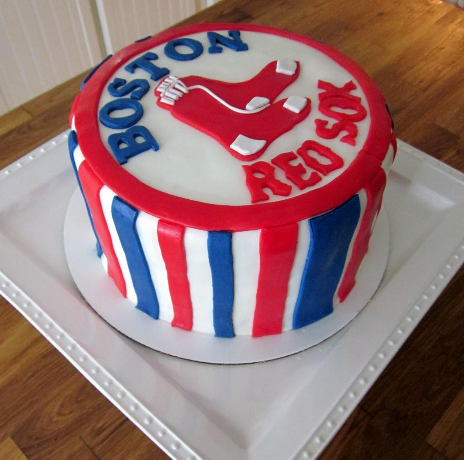 Darlin Designs Boston Red Sox Cake