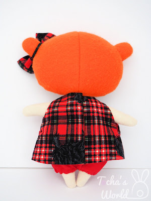 bow, Ceilidh, cotton, ginger, irn bru, polyester, rag doll, Scotland, Scottie dog, tartan, tilda doll, Tocha