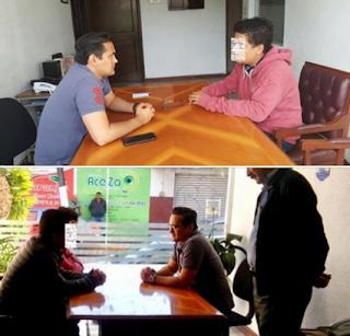 Jorge Winckler Ortiz visita a familia de periodista ejecutado en Yanga Veracruz