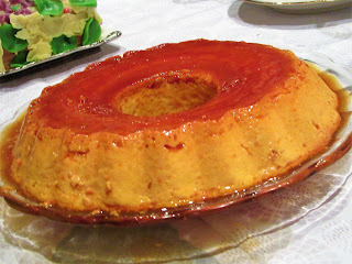 "Flan ""rozata"" with orange caramel"
