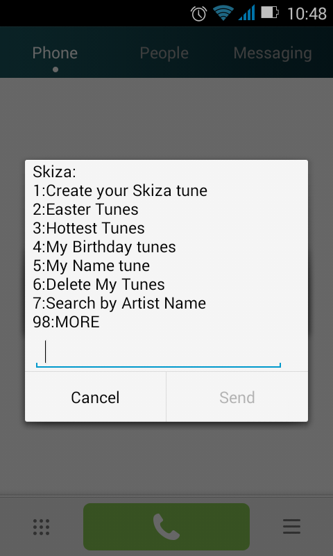 How to Remove Skiza tunes Step 1