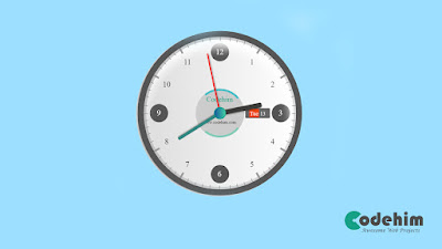 jQuery and CSS3 Stylish Analog Clock
