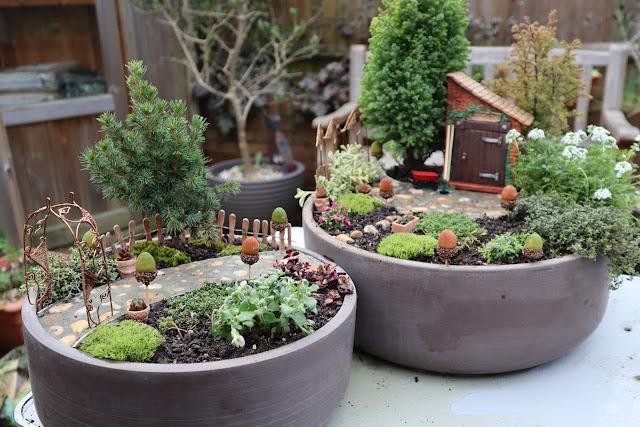Fairy Garden path patio plants miniature decorations