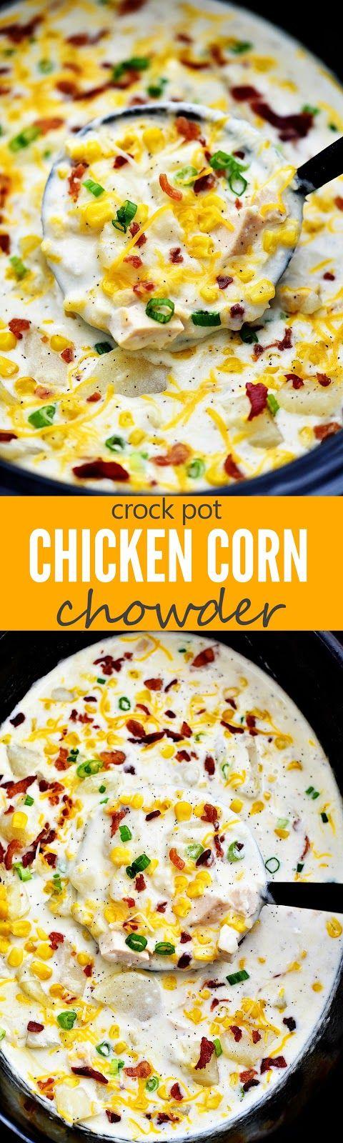 Chicken Corn Chowder #soup #chicken #corn #chowder